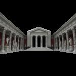 temple, statues, roman